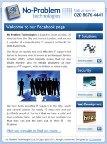 custom Facebook page design - a powerful tool