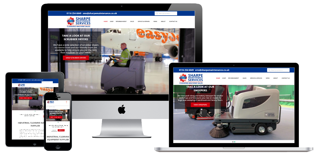 Sharpe Maintenance web design